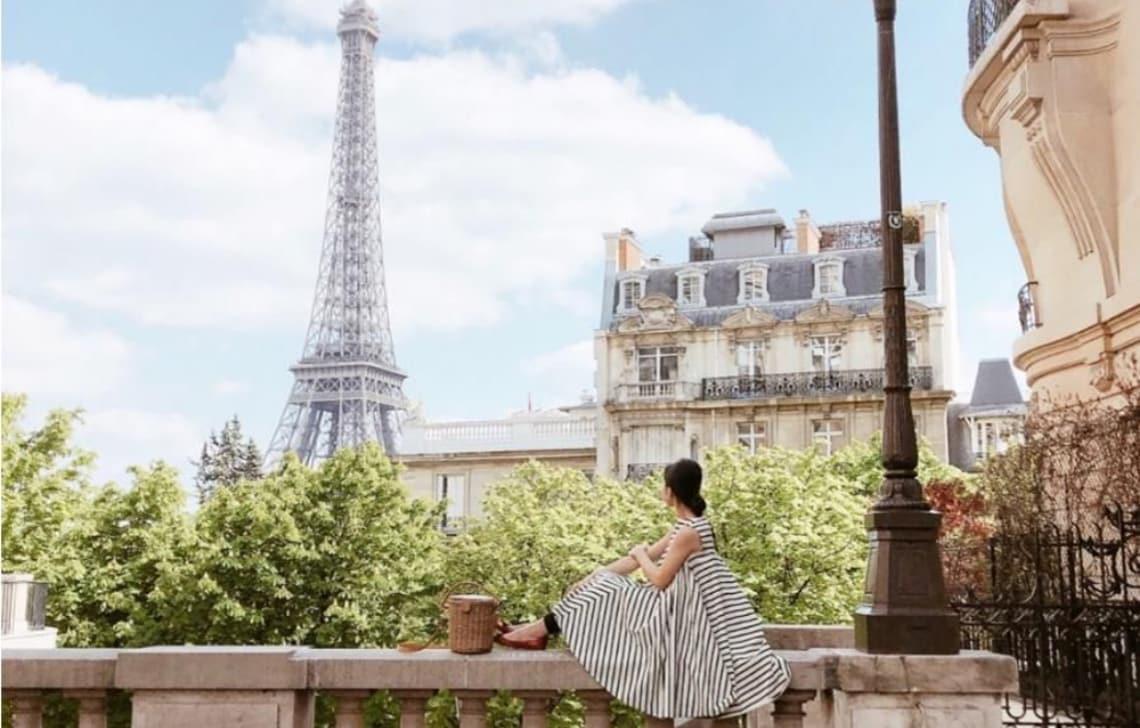パリの引きの写真